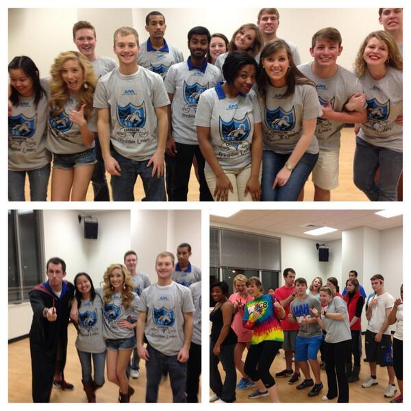 UAH Orientation Leaders are getting SROW-excited for next week! #SROW2014 http://t.co/ZWUR457lJK