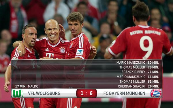 BiN9CVfCAAAqXz  Bayern Munich warm up for Arsenal by setting a new Bundesliga record with their 16th straight win