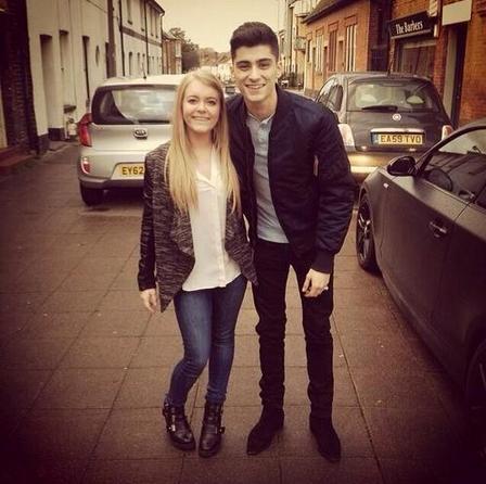one direction france on twitter zayn et une fan. Black Bedroom Furniture Sets. Home Design Ideas