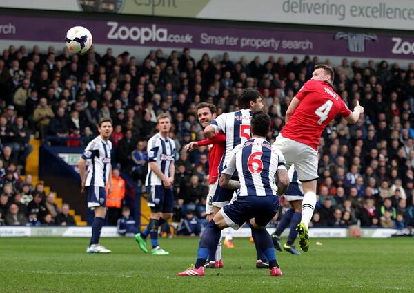 You can just about tell that Phil Jones was making The Face as he scored for Man United v West Brom today [Picture]