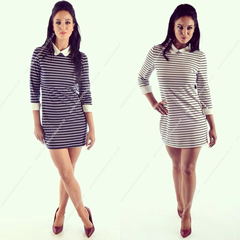 RT @HoneyBoutique_1: LOOK What's Back in Stock ❤️ @VickyGShore VIP All Aboard Dress in Blue-Black or White #VipCollection http://t.co/IzBrm…