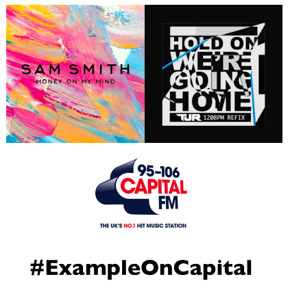 Need your help - what tune should I play next? Should it be @samsmithworld or a bit of @Drake? #ExampleOnCapital http://t.co/2jmMTIM1Sv