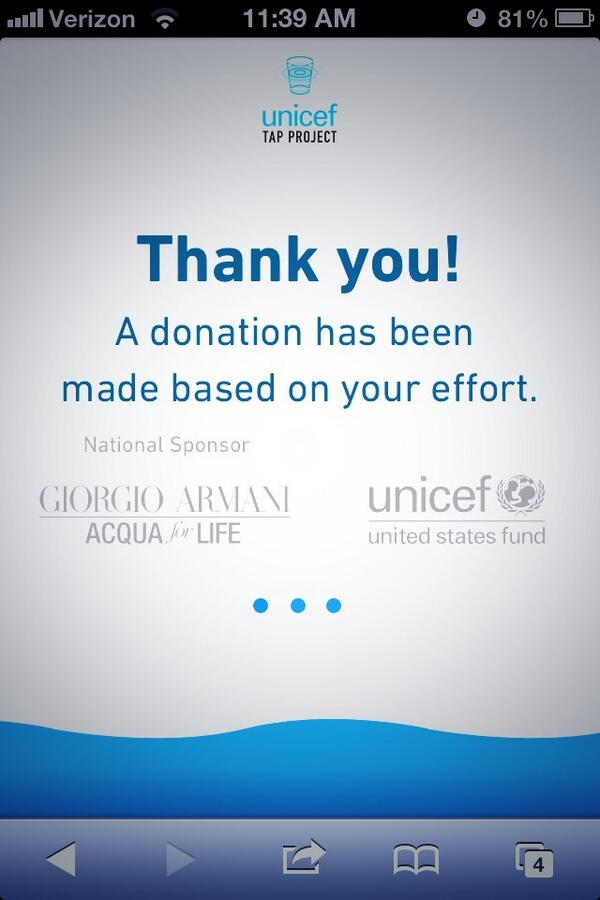 Every 10 mins you dont touch your phone,UNICEF tap project will provide 1 day of clean water. http://t.co/wMucD79fX5 http://t.co/ORgIvhndAF