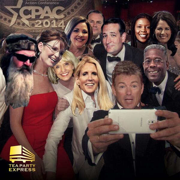 #CPACSelfie #CPAC2014 @tedcruz @SenRandPaul @SenMikeLee @SarahPalinUSA @AnnCoulter  @AmyKremer @AllenWest http://t.co/dzrE6J1n6v