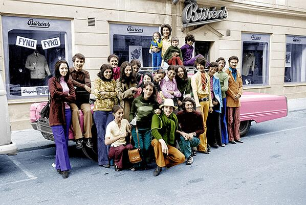 Bin Laden family in Sweden in 1971 - Osama second from right, green top http://t.co/AlSQIx4HsS via @tomgara