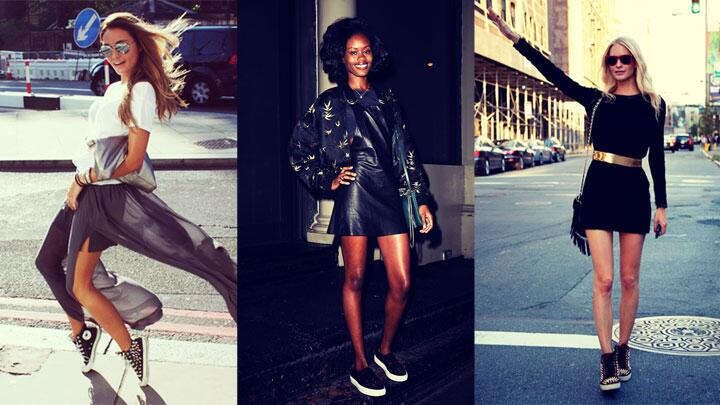 10 ways to rock sneakers with your super cute going-out outfit YEAH: http://t.co/joEQUT5j2H http://t.co/wY46dPsJpc