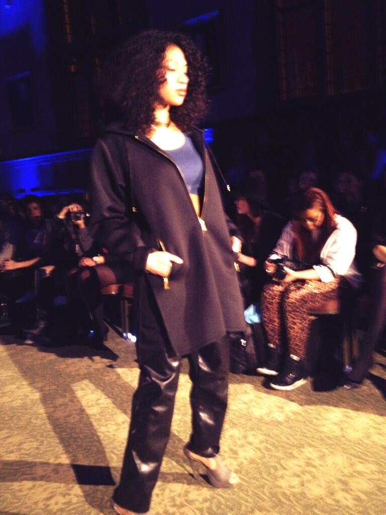 Layers of textured black at the @StreetStyleChi @FordModels_Chi #forthesakeoffashion show at @DePaulU for @UNICEF http://t.co/1uLGLxYGci