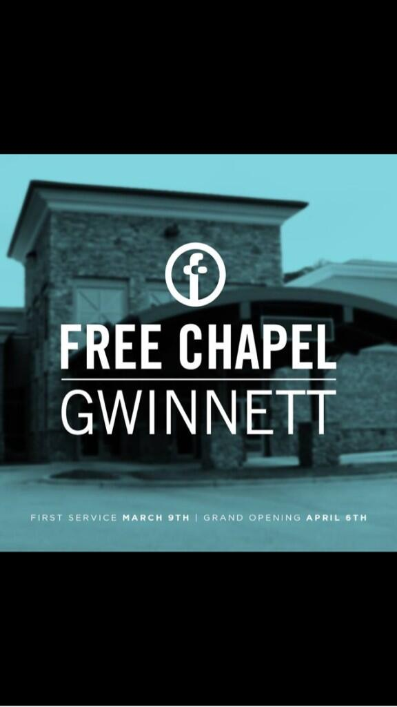 Shana Ruff On Twitter So Excited For My Free Chapel Family In Ga Our Free Chapel Gwinnett Campus Opens Tomorrow Check It Out Godisgood Http T Co Wygoztuwis