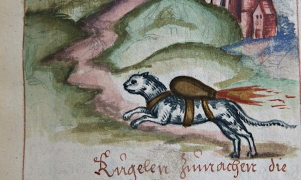 Cat wearing jetpack in 16th century drawing baffles historians http://t.co/04rzLY1Bc3 via @DeathAndTaxes http://t.co/N9OfxkFlMX