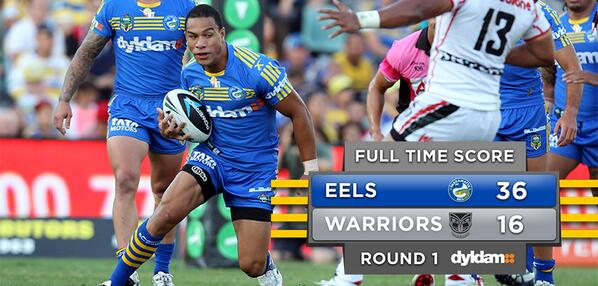 FULL TIME: We're off to a good start this season with a 36-16 win over the @NZWarriors! #NRLparwar #blueandgold http://t.co/ZQmUJu29IN