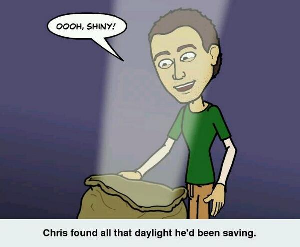 Ooh, shiny! #DaylightSavings #DST #springforward http://t.co/avk8qSEPc8