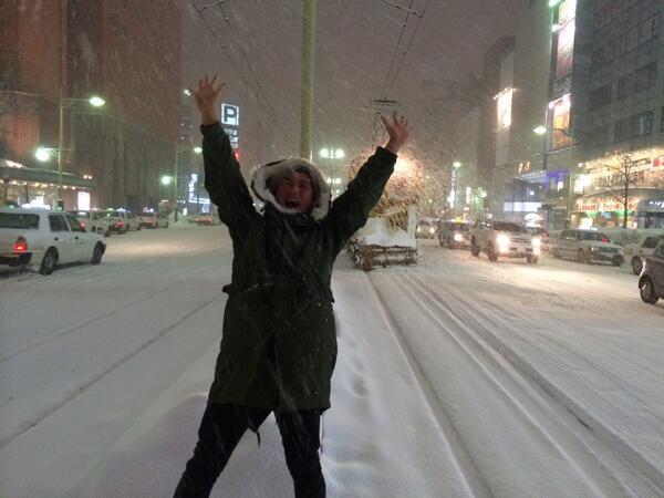 札幌メモリー  「雪降るススキノの夜と俺」  撮影:ヒラマさん