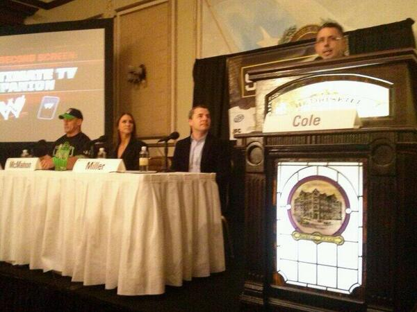 Starting the day off with the #WWEsxsw panel on Second Screen. Great to see #WWE back at #sxswi #sxswcil http://t.co/MMiJ4NFUbx