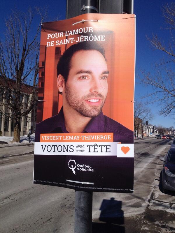 Mine de rien, un des adversaires de PKP dans St-Jérôme est Vincent Lemay-Thivierge pour Quebec Solidaire. #Qc2014 http://t.co/ZCBdHaaxAG