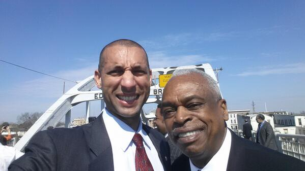W mentor @Wade4Justice on Edmund Pettus Bridge @civilrightsorg @JointCenter http://t.co/yLD5uwKszK