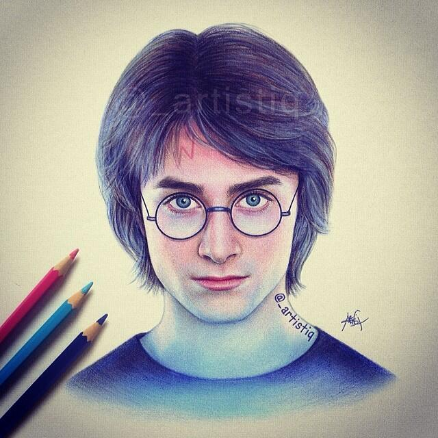 Artistiq On Twitter Quot Harry Potter Drawn With Colored Pencils ⚡️ Http T Co 6qootaeg0l Quot