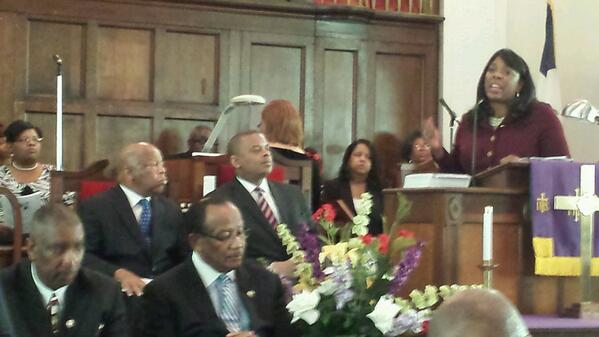 .@RepTerriSewell at Historic Brown Chapel on 49th Anniv. of Bloody Sunday @JointCenter http://t.co/XgvCUCmZ07