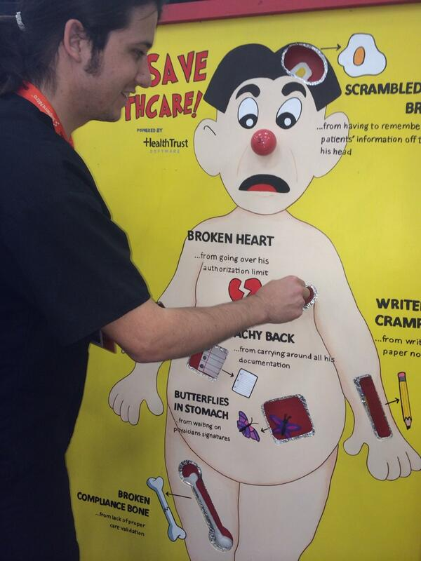 "A life size ""Operation"" board."