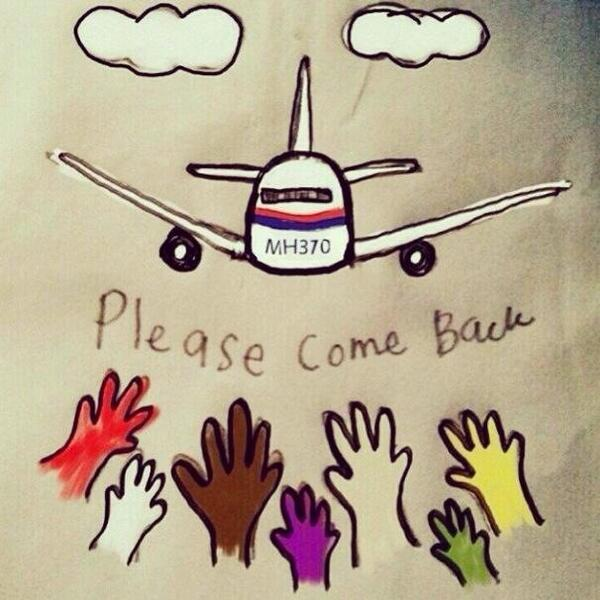 這個年代居然可以消失,是魔術還是惡咒?是意外還是恐襲?求 #馬航 客機平安回歸。 How can a giant plane disappear?? #Pleasecomeback #mh370 http://t.co/a8S6JHD8n4