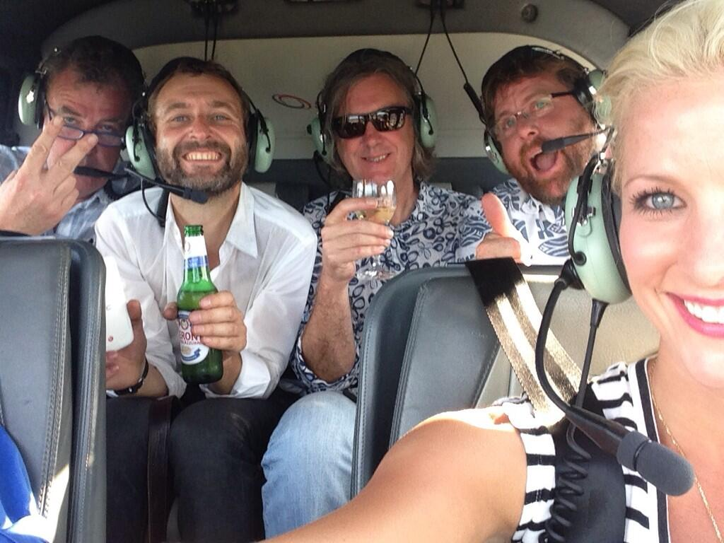 RT @ShaneJacobson: @JeremyClarkson @MrJamesMay @StevePizzati @rianacrehan Thanks for a great Top Gear Festival, safe flights home guys http…