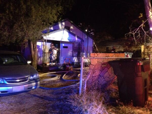 Firefighters put out a house fire near NE 36th & Martin Luther King Ave. @OKCFOX #liveonokcfox http://t.co/qX3hYpY4Ax