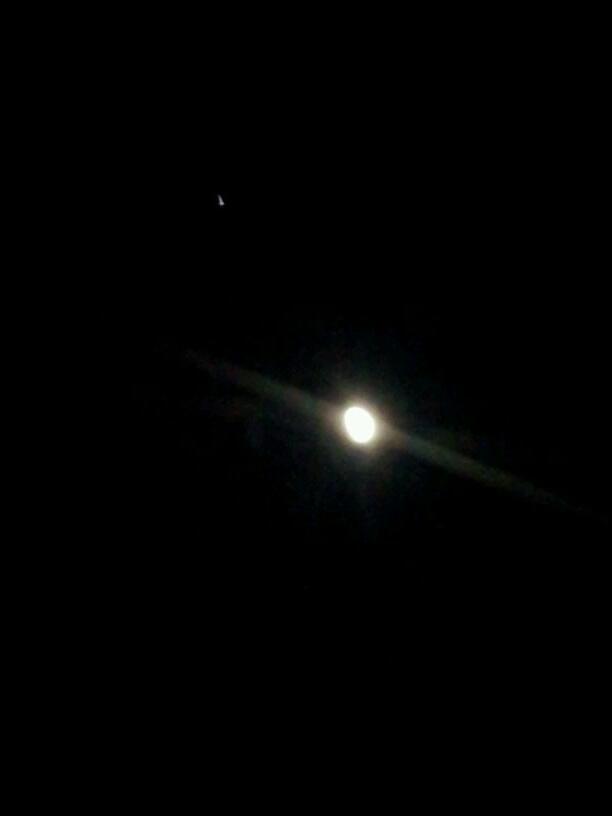 携帯で木星と月の接近