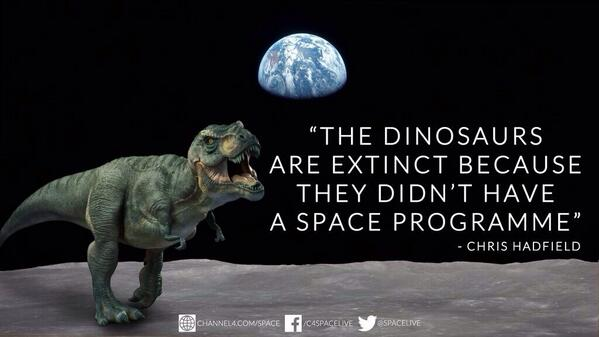 Maybe they did? Their spaceships could return ANY MOMENT NOW-RT @SpaceLive: Where dinosaurs went wrong...  #SpaceLive http://t.co/UqgPILwSZl