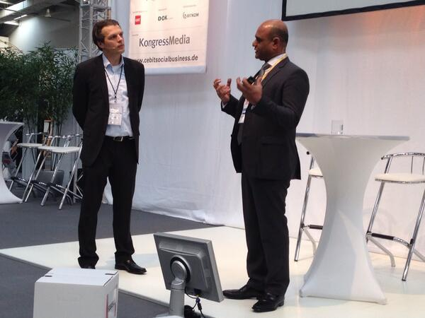 #cebit2014 @sameerpatel about how companies are winning with disruptive social technology #cebitsba http://t.co/K5BcvXaxIu