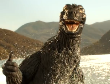 A Snickers bar is just what Godzilla wants in this new ad, see it here: http://t.co/3s5OIP8VT6 http://t.co/RdFQa3UUEJ