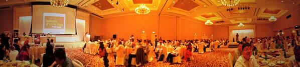 East-West Center keynote dinner at Yangon Trader's Hotel. 300+ journos, media. Amazing conference. #eastwestmedia http://t.co/J8AJ3fU9bc