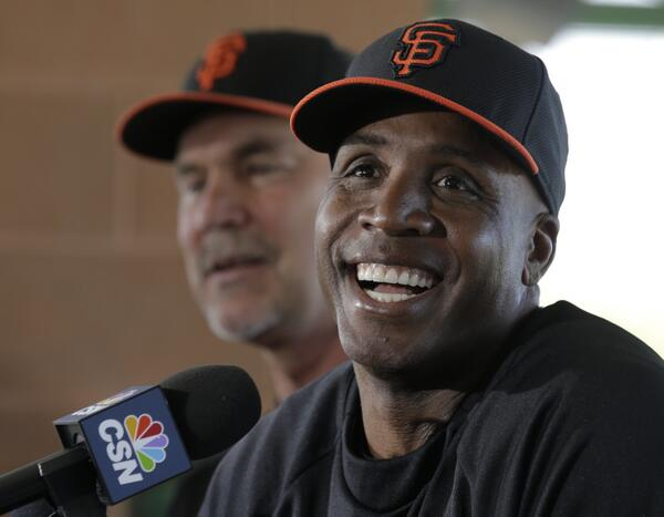 Barry Bonds, back for a limited time as a @SFGiants coach - http://t.co/vG4ZUqEsdh http://t.co/iFImkCYHW0