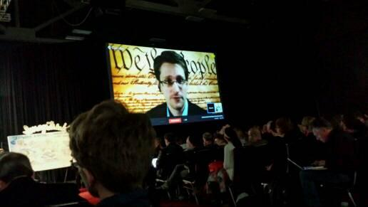Thumbnail for Snowden's virtual conversation at SXSW