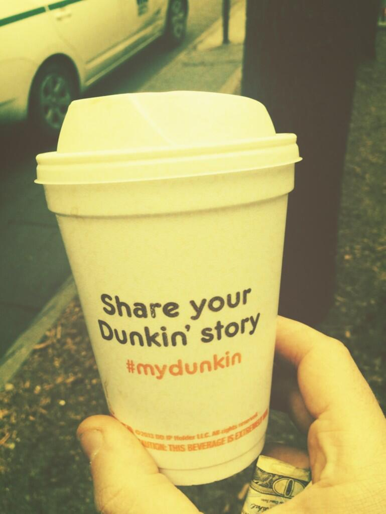 Well.. I had your coffee, then I did a poo-poo. That was it really. Thanks for letting me share my story. #mydunkin http://t.co/pny20BNbsA