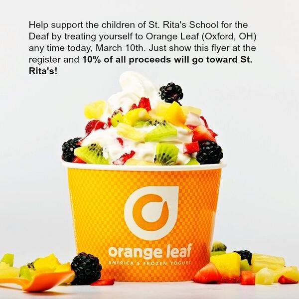 You can cheat your spring break diet, we won't tell. Stop by today and treat yourself for an awesome cause! http://t.co/wccTfKv8UD