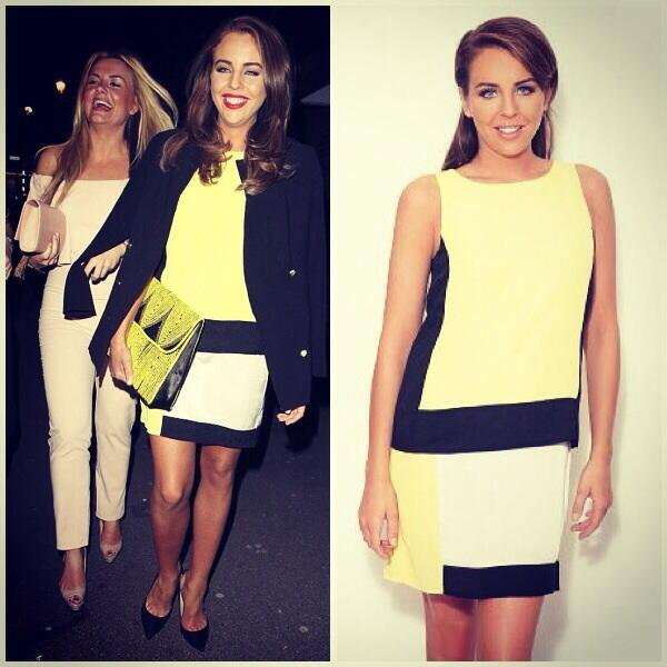 Out on the weekend wearing the colour block yellow dress.£53 sizes 8-16.Buy: http://t.co/St2Aknb6D1 @BellaSorella251 http://t.co/j6bXlgVtNe