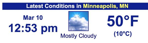 We just hit 50° in the Twin Cities! First time since Nov 16th, 114 days ago. http://t.co/E3wEZM57sm