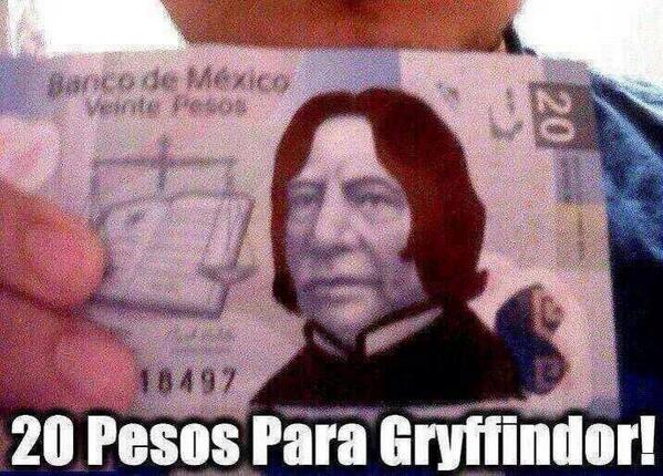 20 pesos para Gryffindor! http://t.co/4Edk3Bh5Bg