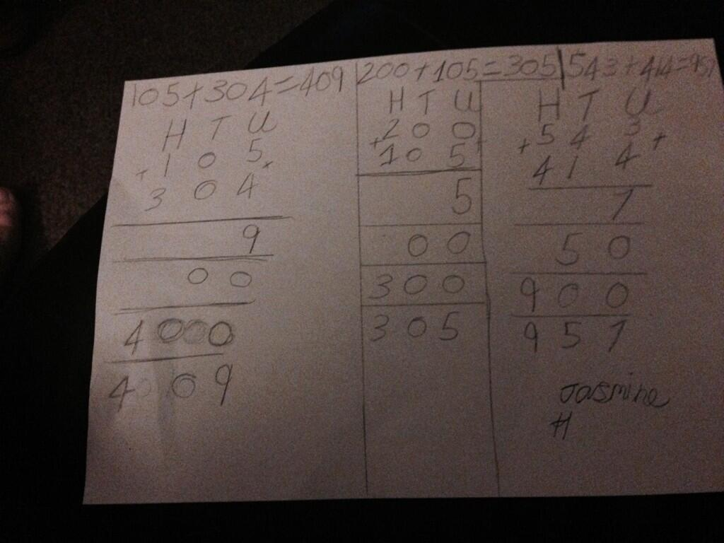 RT @jojashodge: @DawnSutton1970 @carolvorders  created a maths monster jasmine doing tens&units,tonight done hundreds, tens and units http:…
