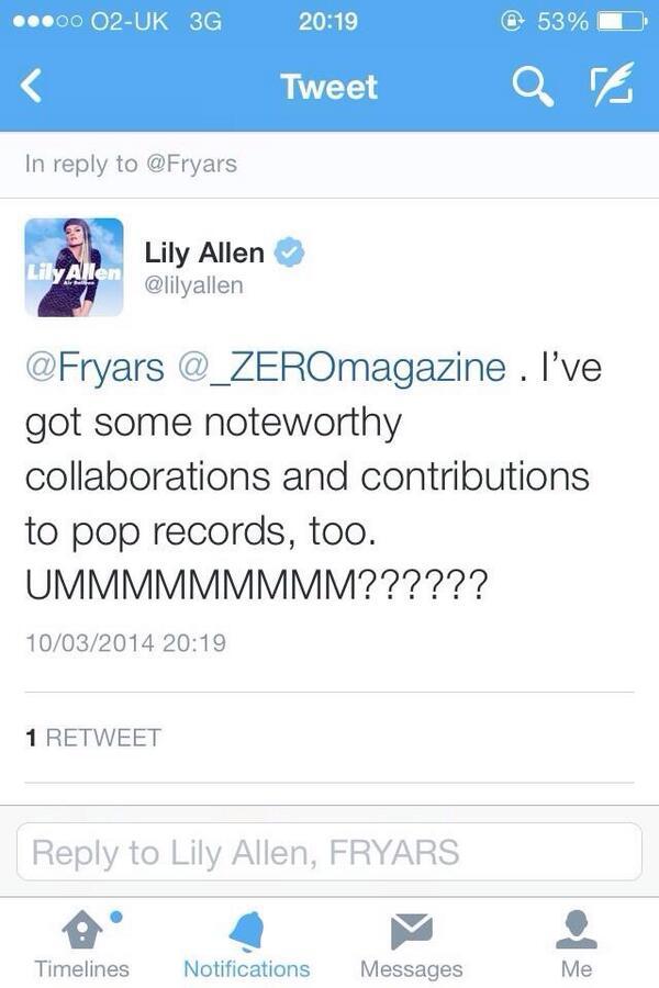 Well @lilyallen reads @_ZEROmagazine ... So you should too ✌️ http://t.co/POu0WGMsA4