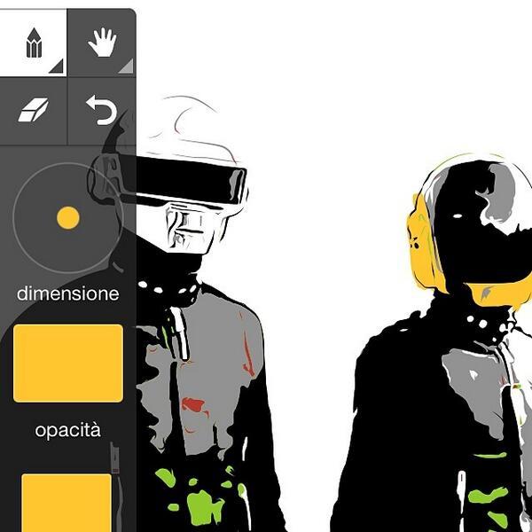 "Adobe Drawing on Twitter: ""#DaftPunk #AdobeIdeas #WIP by Lorenzo Imperato. http://t.co/lMVFrBRIDf http://t.co/FEmSIky3Nt"""