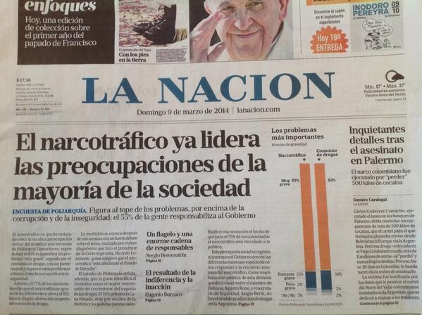 El domingo nos desayunábamos con este título tamaño catástrofe de La Nación. #queruzoInvestiga http://t.co/NXlYD38xC7