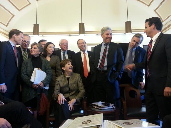 RT @SenWhitehouse: Behind the scenes at #Up4Climate: Senators preparing for tonight's speeches. http://t.co/Y5EuJmm2T6