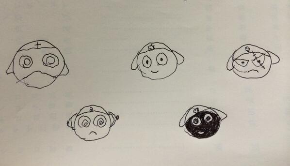 ケロロ小隊全員集合! 全力で描いてみた… 七年もやってるのに(⌒-⌒; )