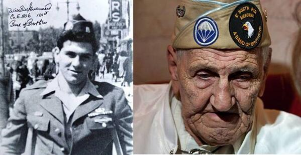 """May we never forget. Rest in peace 'Band of Brothers' Vet William """"Wild Bill"""" Guarnere http://t.co/akvPVVlpus #MilMon http://t.co/yxBSP3vQk5"""