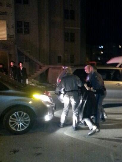 Monroe: state police just arrested Yoel tzimerman from Williamsburg for making a illegal protest in Kiryas Joel. http://t.co/eP8VKXdBix