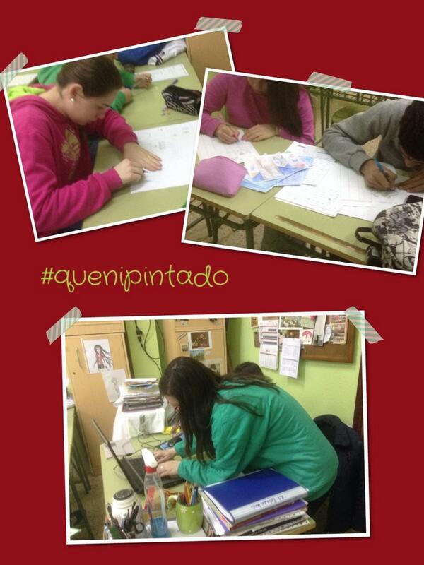 @inmitacs: #quenipintado #iescalvín Los de 4º prosiguen,leeeenta pero inexorablemente! http://t.co/z0r9RcRWfZ