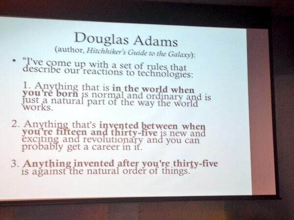 Douglas Adams predicts the reaction to BBC3 going online... http://t.co/bZlDSqdGWB (RT @emerbeamer @DigitalEthno)
