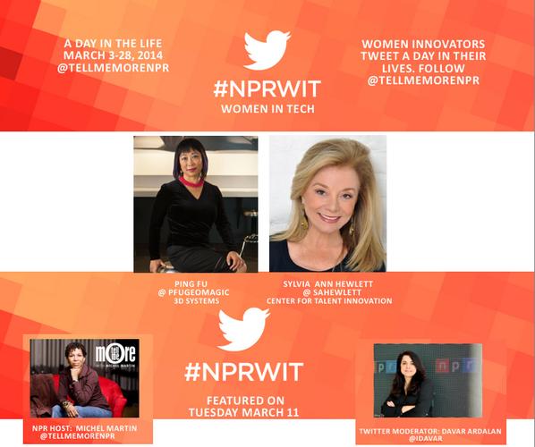 Thumbnail for #NPRWIT March 11: Ping Fu, Sylvia Ann Hewlett, Natalia Oberti Noguera, & Danae Ringelmann