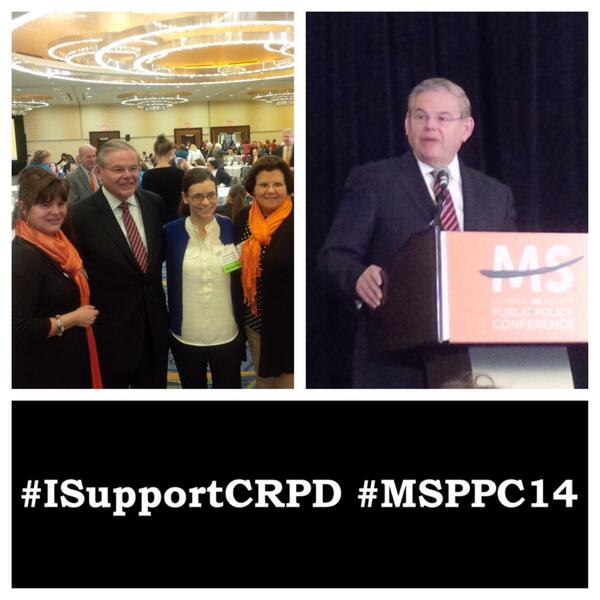 Senator Menendez speaking at the MS Society Public Policy Conference