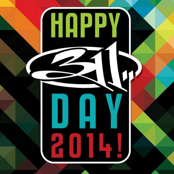 Happy 311 DAY to the Best Fan Family in the world! ! New album STEREOLITHIC in stores today far & wide. Happy 311 DAY http://t.co/sQ5WyuOtlO